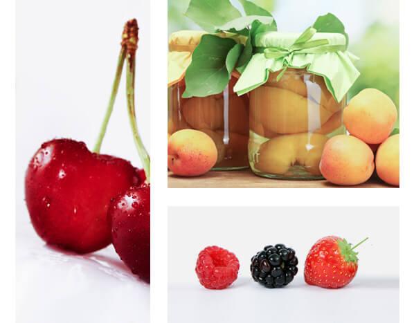 Frutas, alimentación saludable y rica en vitaminas